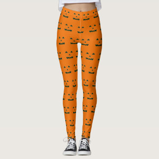 Boo Binary Pumpkin Halloween Design Leggings
