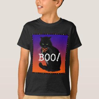 """Boo!"" Black Cat Halloween T-shirt"
