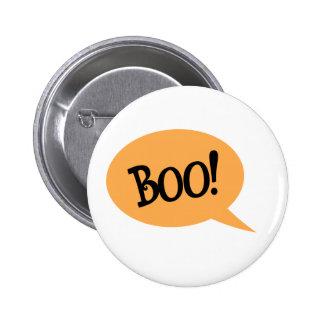 Boo black text in orange speech bubble button