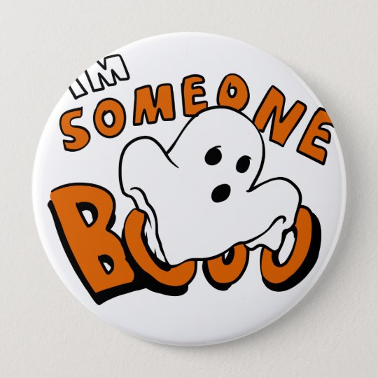 Boo - cartoon ghost - baby ghost - funny ghost 10 cm round badge