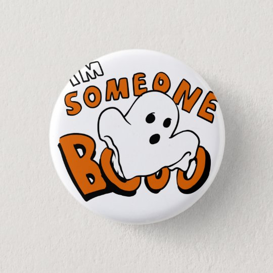 Boo - cartoon ghost - baby ghost - funny ghost 3 cm round badge