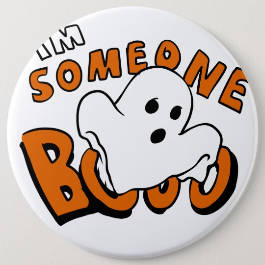 Boo - cartoon ghost - baby ghost - funny ghost 6 cm round badge