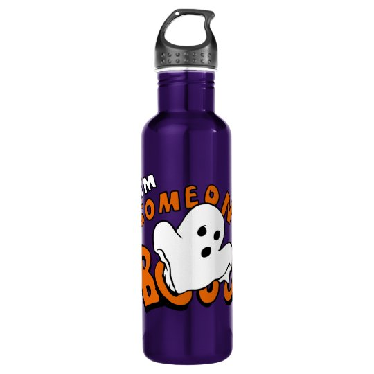 Boo - cartoon ghost - baby ghost - funny ghost 710 ml water bottle