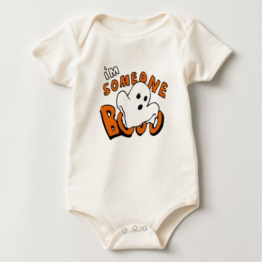 Boo - cartoon ghost - baby ghost - funny ghost baby bodysuit