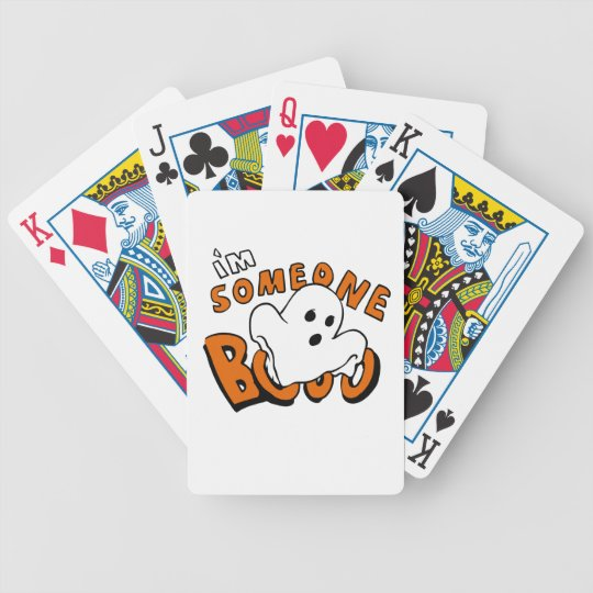 Boo - cartoon ghost - baby ghost - funny ghost bicycle playing cards