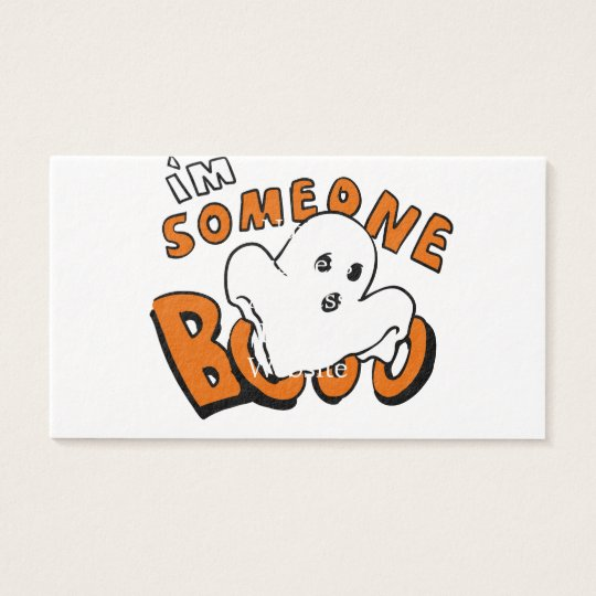 Boo - cartoon ghost - baby ghost - funny ghost business card