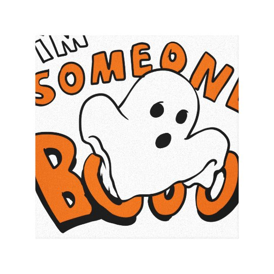 Boo - cartoon ghost - baby ghost - funny ghost canvas print