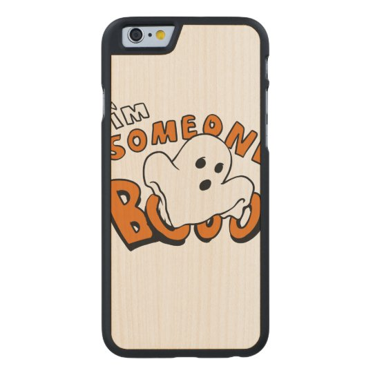 Boo - cartoon ghost - baby ghost - funny ghost carved maple iPhone 6 case