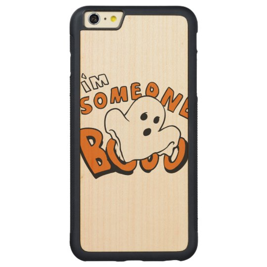 Boo - cartoon ghost - baby ghost - funny ghost carved maple iPhone 6 plus bumper case