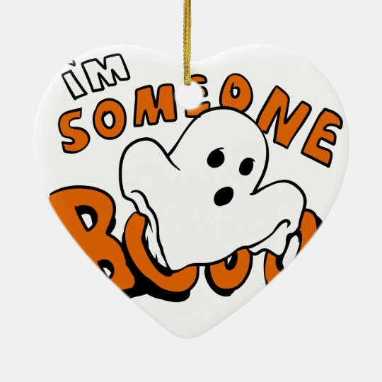 Boo - cartoon ghost - baby ghost - funny ghost ceramic ornament