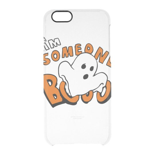 Boo - cartoon ghost - baby ghost - funny ghost clear iPhone 6/6S case
