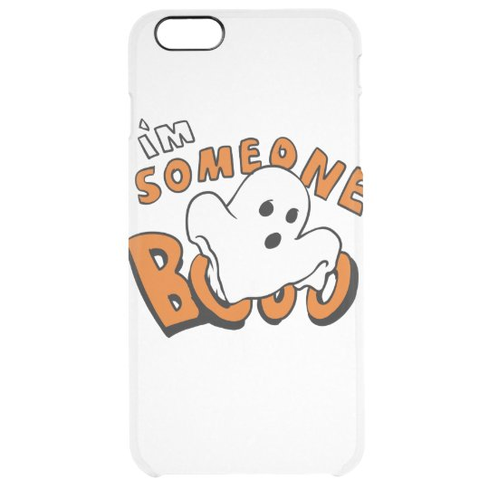 Boo - cartoon ghost - baby ghost - funny ghost clear iPhone 6 plus case
