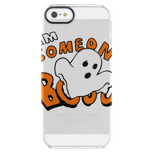 Boo - cartoon ghost - baby ghost - funny ghost clear iPhone SE/5/5s case