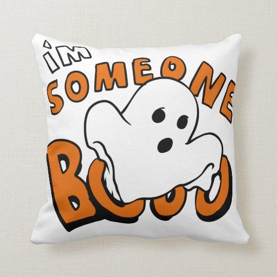 Boo - cartoon ghost - baby ghost - funny ghost cushion