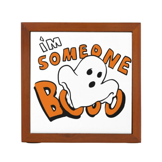 Boo - cartoon ghost - baby ghost - funny ghost desk organiser