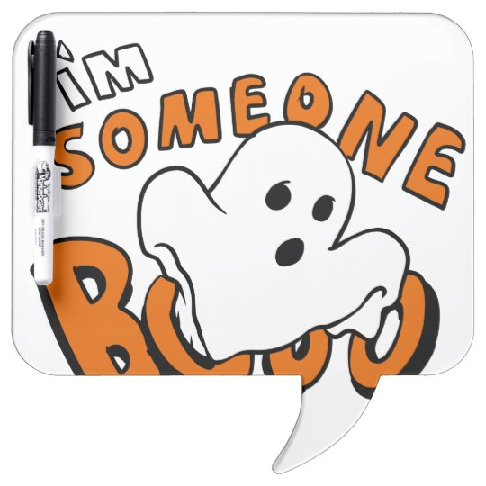 Boo - cartoon ghost - baby ghost - funny ghost dry erase board