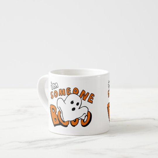 Boo - cartoon ghost - baby ghost - funny ghost espresso cup