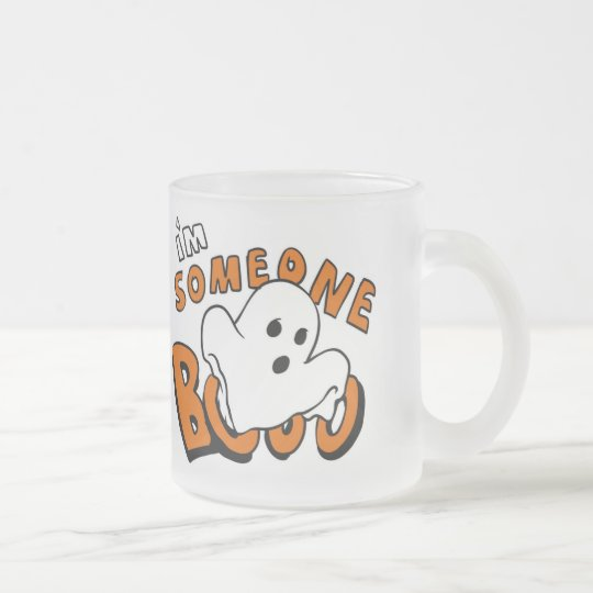 Boo - cartoon ghost - baby ghost - funny ghost frosted glass coffee mug