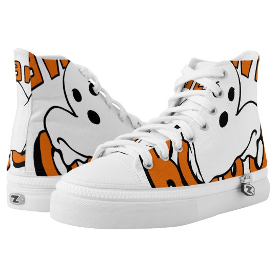 Boo - cartoon ghost - baby ghost - funny ghost high tops