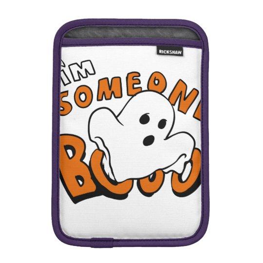 Boo - cartoon ghost - baby ghost - funny ghost iPad mini sleeve