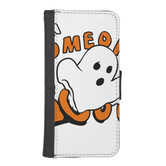 Boo - cartoon ghost - baby ghost - funny ghost iPhone SE/5/5s wallet case