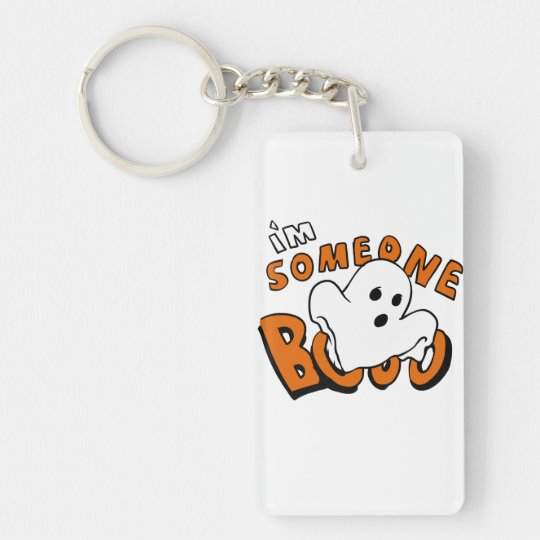 Boo - cartoon ghost - baby ghost - funny ghost key ring