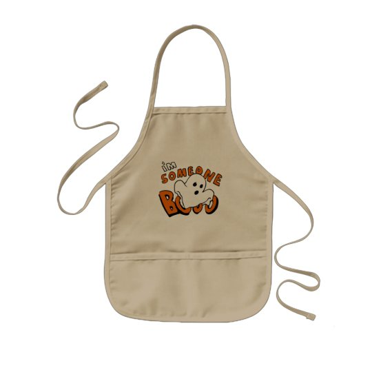 Boo - cartoon ghost - baby ghost - funny ghost kids apron