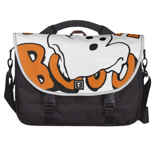 Boo - cartoon ghost - baby ghost - funny ghost laptop commuter bag
