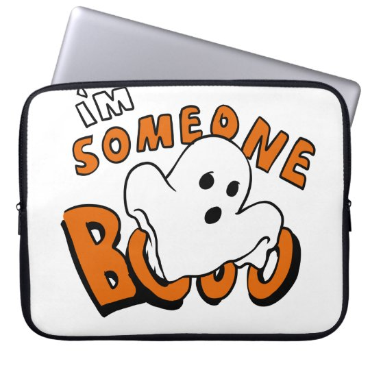 Boo - cartoon ghost - baby ghost - funny ghost laptop sleeve