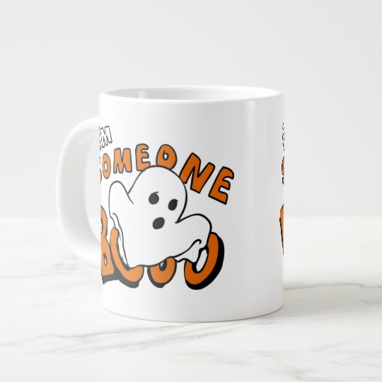 Boo - cartoon ghost - baby ghost - funny ghost large coffee mug