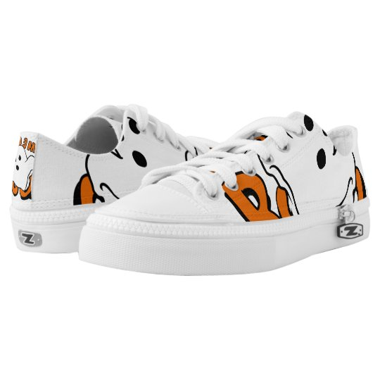 Boo - cartoon ghost - baby ghost - funny ghost low tops