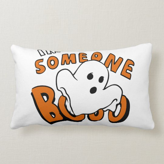 Boo - cartoon ghost - baby ghost - funny ghost lumbar cushion
