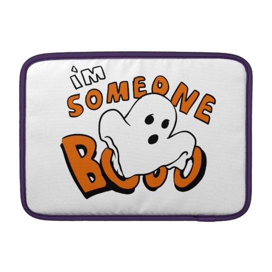 Boo - cartoon ghost - baby ghost - funny ghost MacBook sleeve