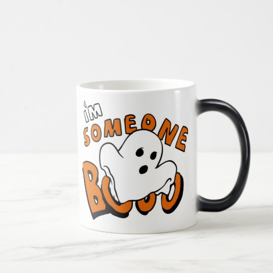 Boo - cartoon ghost - baby ghost - funny ghost magic mug