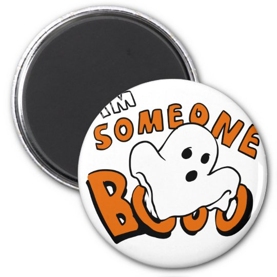 Boo - cartoon ghost - baby ghost - funny ghost magnet