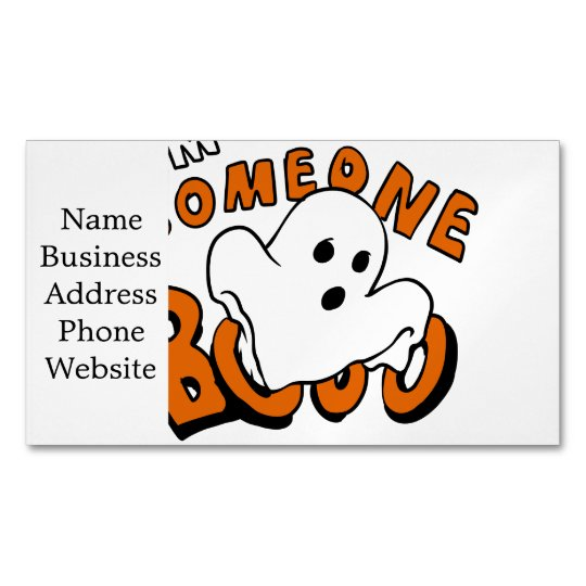 Boo - cartoon ghost - baby ghost - funny ghost 	Magnetic business card