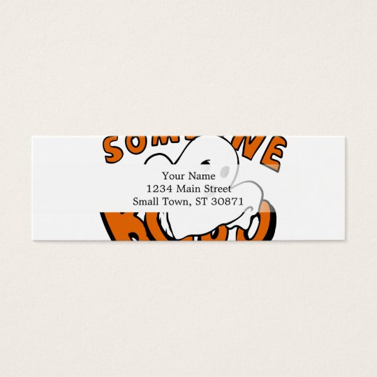 Boo - cartoon ghost - baby ghost - funny ghost mini business card