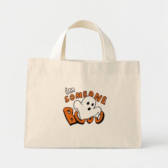 Boo - cartoon ghost - baby ghost - funny ghost mini tote bag