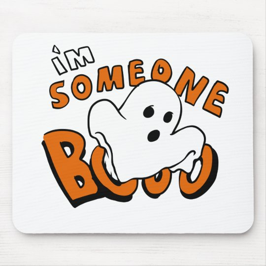 Boo - cartoon ghost - baby ghost - funny ghost mouse pad