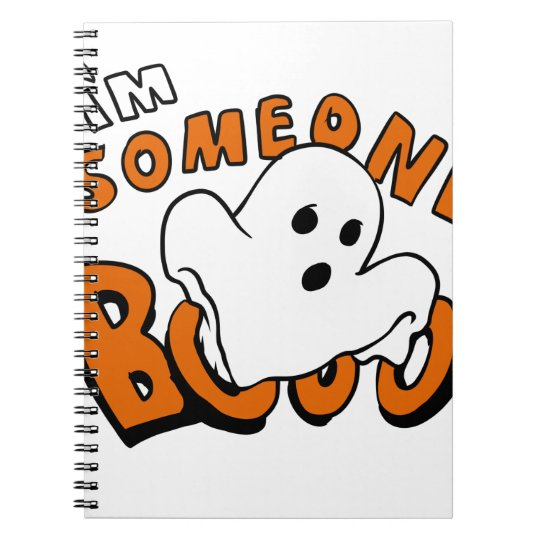 Boo - cartoon ghost - baby ghost - funny ghost notebook