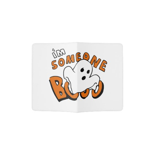 Boo - cartoon ghost - baby ghost - funny ghost passport holder