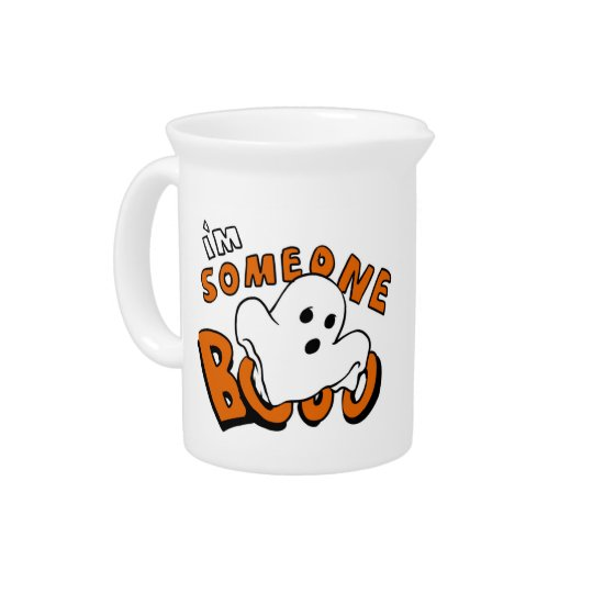 Boo - cartoon ghost - baby ghost - funny ghost pitcher
