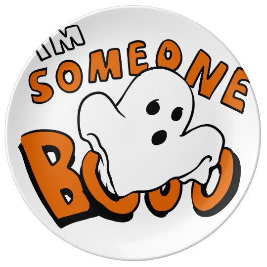 Boo - cartoon ghost - baby ghost - funny ghost plate