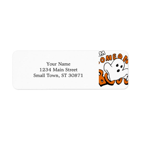 Boo - cartoon ghost - baby ghost - funny ghost return address label