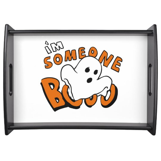 Boo - cartoon ghost - baby ghost - funny ghost serving tray