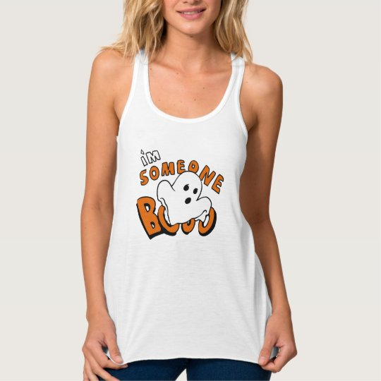 Boo - cartoon ghost - baby ghost - funny ghost singlet
