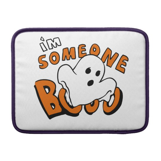 Boo - cartoon ghost - baby ghost - funny ghost sleeve for MacBook air