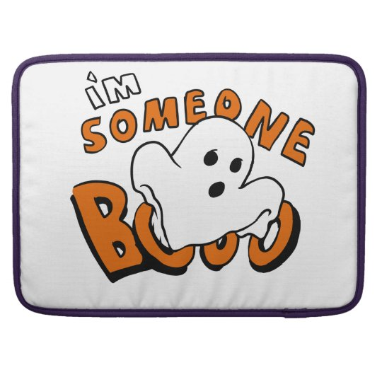 Boo - cartoon ghost - baby ghost - funny ghost sleeve for MacBook pro