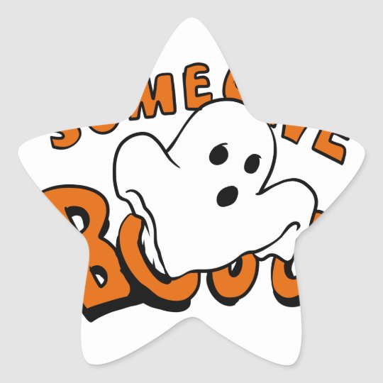 Boo - cartoon ghost - baby ghost - funny ghost star sticker