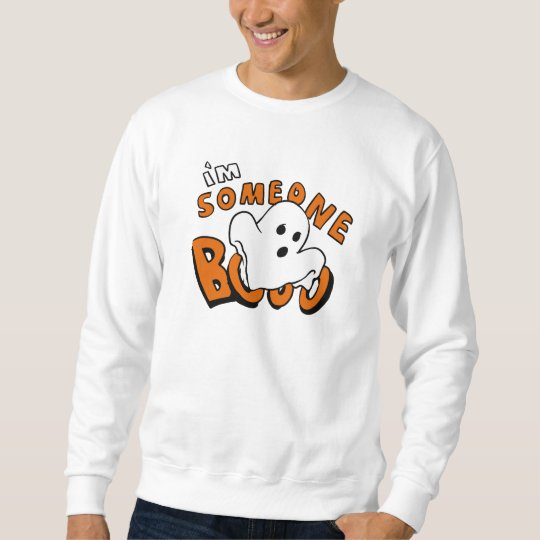 Boo - cartoon ghost - baby ghost - funny ghost sweatshirt